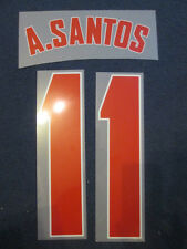 A.Santos 11 Arsenal 2012-2013 Champions League Football Shirt Name Set Away