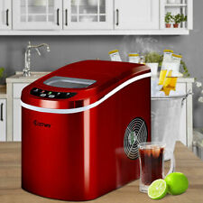 Portable Compact Electric Ice Maker Machine Mini Cube 26lb/Day Red New