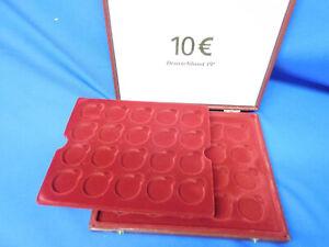 Münzenkassette für 10 Euro Deutschland in Kapseln 32,5 ohne Überstehenden Rand