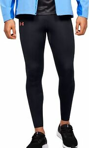 Under Armour Qualifier Speedpocket Mens Long Running Tights - Black