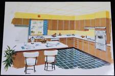 MID CENTURY MODERN HOME KITCHEN ADVERTISING CARD 1960 VINTAGE DECOR