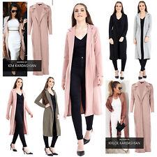 Ladies Celebrity Style Waterfall Collared Duster Italian Blazer Jacket Coat Top
