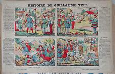 Rare Vintage Imagerie Epinal Pellerin print/Histoire de Guillaume Tell INV2293