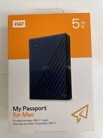 WD 5TB My Passport For Mac Portable Hard Drive