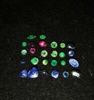 Wunderschöne zertifizierte natürliche Smaragde, Rubine und Saphire 26 St. Echt!