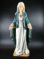 Madonna mit Herz,Maria Mutter Gottes Statue,50 cm Polyresin Figur,Neu