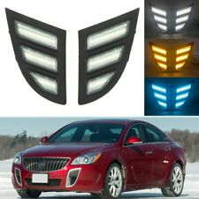 For Buick Regal GS 2012-2016 Daytime Running Light 3 Color LED DRL Mustang Style