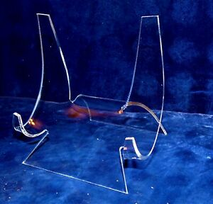 """4-3/4 """" EXTRA LARGE ACRYLIC EASEL DISPLAY STAND SEA SHELL DECOR REEF CORAL"""