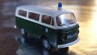 * Brekina 33083 VW T2 Green/White Polizei / Police Bus 1:87 HO Scale
