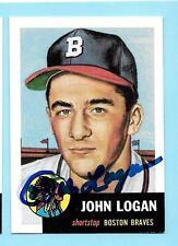 1991 Topps 1953 Archives #158 John Johnny Logan Autograph Boston Braves