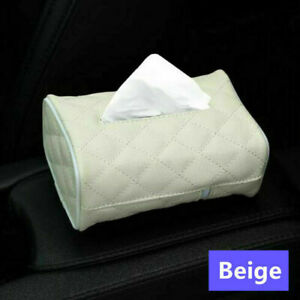 Car Home Room PU Leather Tissue Box Pumping Paper Hotel Napkin Holder Case Decor