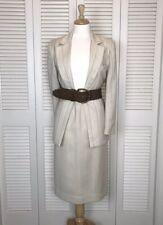 Christian Dior Women's Size 8 Tall Tan Beige Skirt Suit Set Career Work EUC