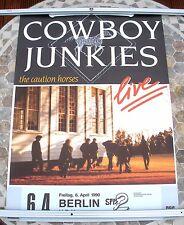 COWBOY JUNKIES Caution Horses 1990 tour poster 33 x 23  original