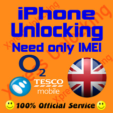 IPHONE 3G 3GS 4 6S 6S+ 5 5S 5C O2 UK TESCO UK FACTORY UNLOCKING CLEAN IMEI ONLY