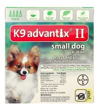 K9 Advantix II for Small Dogs [4-10 lbs] (4 count)