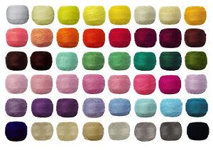 10 x 82m VENUS Crochet Cotton Tatting Thread #70 e-mail me Colour Codes