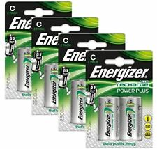 8 x Energizer ACCU Rechargeable C Cell NiMh Batteries (2500mAh)