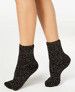 Charter Club Black Metallic Fuzzy Cozy Socks $10 - NWT