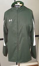 Under Armour Men's All Season Gear Full Zip Jacket Green/White Large Loose EC