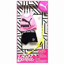 Htf 2020 Barbie Puma Outfit w/ Pink Tank Top Black Shorts Watch & Fanny Pack New
