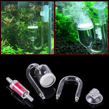 Aquarium Fish Tank CO2 Diffuser Check Valve U Shape Glass Tube Suction Cup Kit