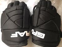 """GRAF Youth Hockey Gloves G15 9"""" Black Ice Skate Kids"""