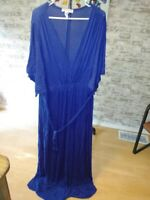 Plus Size Womens Maxi Dress Blue by Swak 5x