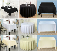 Round Rectangle Tablecloth Cover Wedding Party Polyester Tableware Table Cloth
