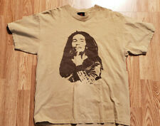 Zion Rootswear Bob Marley Signature Graphic T-shirt Large Tan 2003 USA