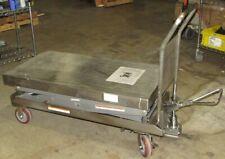 Vestil Cart 1500 D Ts Pss Hydraulic Scissor Cart 1500 Lb Cap 47 12w 24l