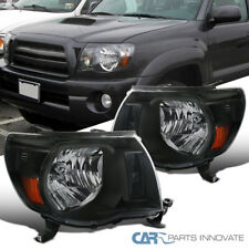 Fit 05-11 Toyota Tacoma Replacement Black Headlights Lamps Pickup Left+Right