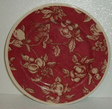 """Waverly Salad Plate FRUIT TOILE Retired Red Fruits 8.25"""" Garden Room"""