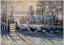 The Magpie - Hand Painted Claude Monet Oil Painting Winter Landscape Wall Art