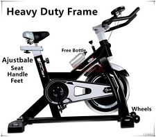 New Heavy Duty Spin Flywheel Exercise Bike Adjustable for Home Gym Fitness