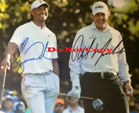 Tiger Woods & Phil Mickelson Dual Signed 8 x 10 Photo Reprint