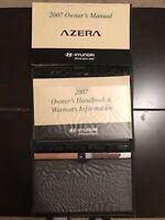 2007 Hyundai Azera Owners Manual With Case OEM Free Shipping