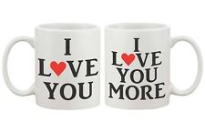 Romantic Matching His and Hers Couple Coffee Mugs - I Love You (MC042)