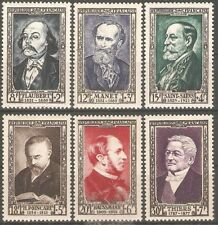 France -1952 National Relief Fund, 19th Century Celebrities MM