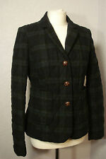 Next blue/green/black check quilted wool mix jacket 10
