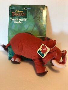 NIP Disney Tarzan Trunk Tricks Tantor Elephant Plush 1999 NOS Mattel 22289