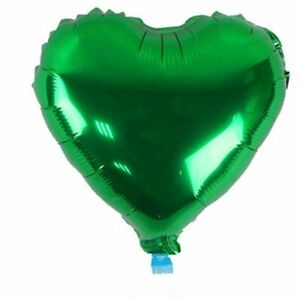 """10 qty 5"""" Heart Foil Balloons Wedding Birthday Party Decoration Color For Green"""