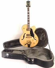 Washburn J7VNK Natural Hollow Body Jazz Guitar with Bigsby & HARDSHELL Case -NEW