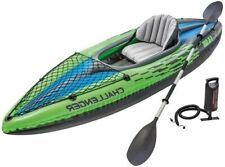 🔥 Intex Challenger K1 Inflatable Kayak with Oar and Hand New Fast Pump 🔥 NEW