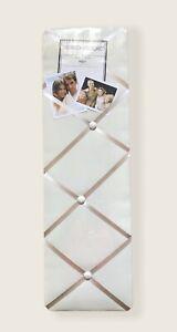 "The French Memo Board Cream Twill Fabric Satin Ribbon 8"" X 25"" New View NEW"