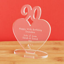 90th Birthday Personalised Milestone Heart Keepsake Gift Idea For HIM OR HER
