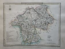 1807 Westmorland Original Antique Hand Coloured County Map by Cole & Roper