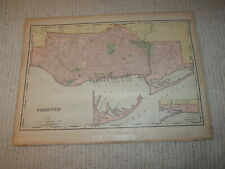 Vintage 1901 Toronto Canada Map Rand McNally Business Atlas Single Page