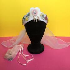 Disney Princess Changeable Pin Crown Bride Bridal Tiara Hen Do Veil Hat Headband