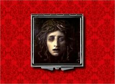 MEDUSA GREEK MYTHOLOGY SNAKES GOTH VINTAGE HAND MAKEUP POCKET COMPACT MIRROR