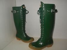 """HUNTER"" Womens Sz 6  ""WATLING ""TALL"" ""Gloss Boots-$79.99  Fast Ship"